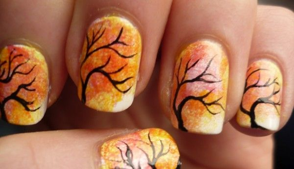 осінні мотиви на нігтях