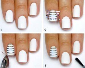 Дизайн нігтів з смужками