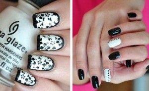 Фотографії чорно-білого дизайну нігтів
