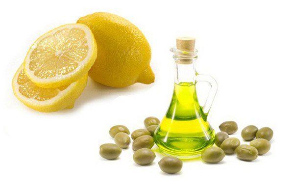 Маска з маслом і лимонним соком