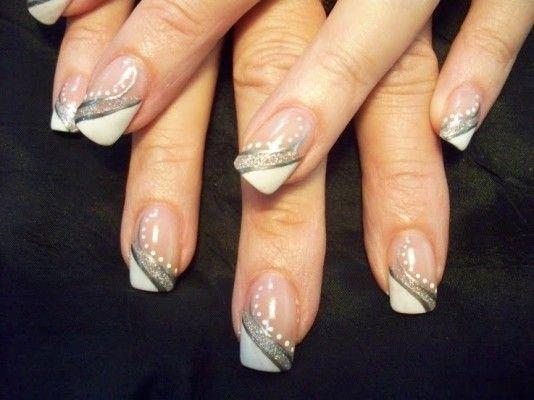квадратні нігті і френч
