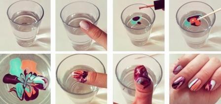 Як зробити манікюр за допомогою води