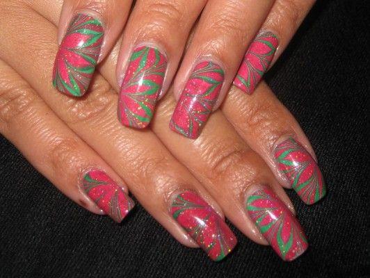 красиві нігті з блискітками