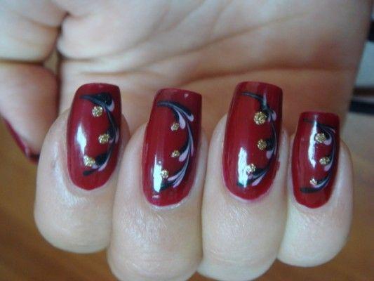 своєрідні квіти на нігтях