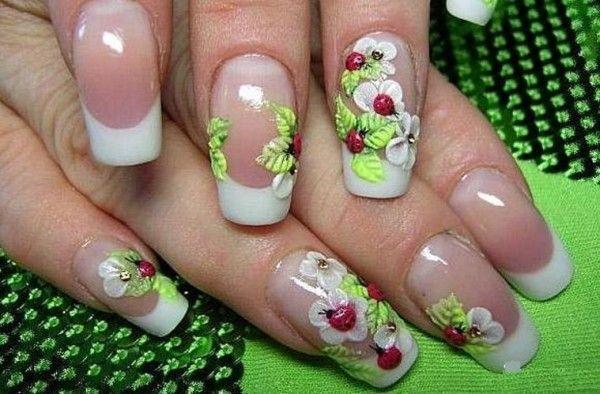 весняна галявинка на нігтях