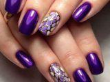 Наносимо фіолетовий шелак на нігті - тренди сезону