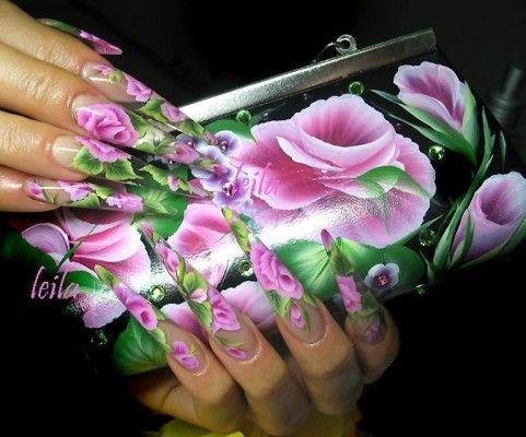 квіткова розпис нігтів