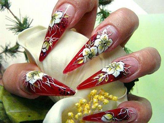 квіткова росіпісь нігтів