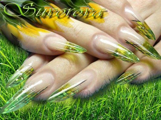 садові феєрія на нігтях