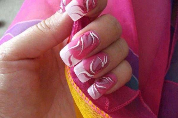 Прості і красиві малюнки на нігтях голкою