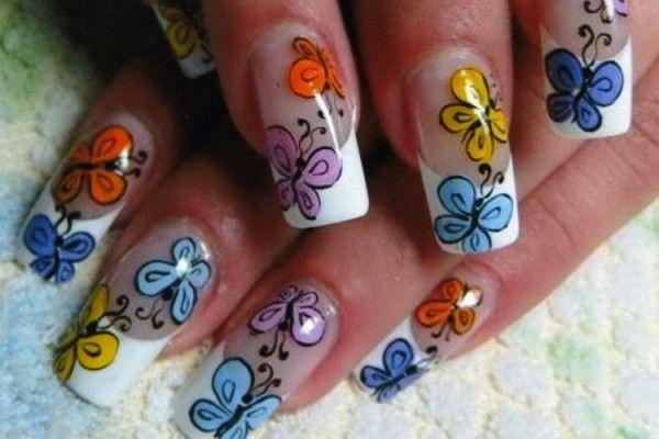 різнокольорові метелики