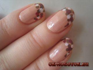 Малюнок на нігтях дотс «ванільне небо» майстер-клас.