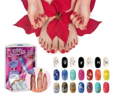 Візерунки на нігтях в домашніх умовах за допомогою набору salon express